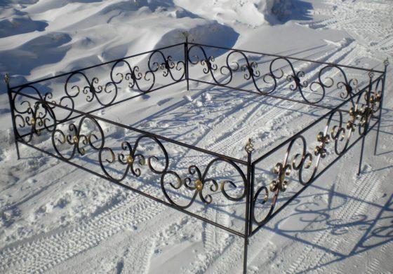 Сварная ограда на могилу